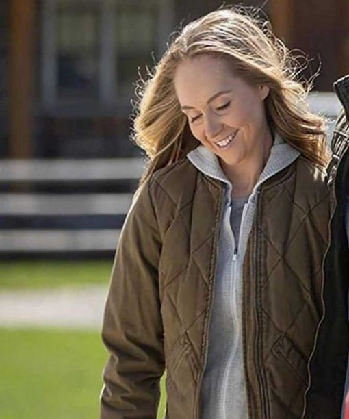 Heartland Amber Marshall Quilted Bomber Jacket