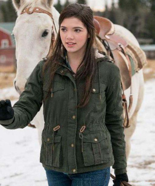 Heartland Alisha Newton Green Jacket