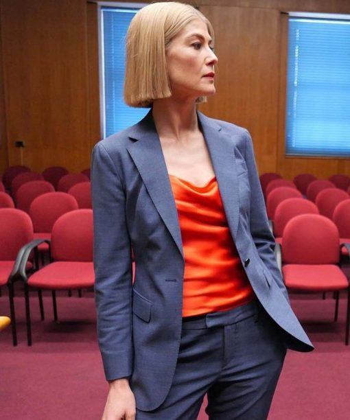 I Care a Lot (2021) Rosamund Pike Grey Blazer