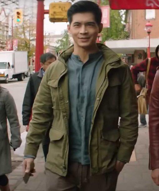 Kung Fu Eddie Liu Green Jacket