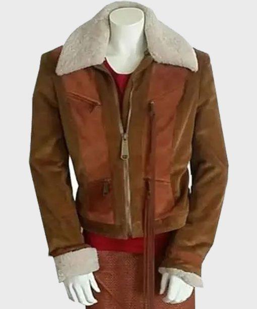 Superman and Lois Lana Lang Cushing Brown Leather Jacket