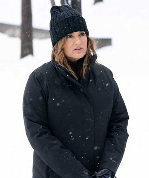 Law & Order: Organized Crime Mariska Hargitay Black Coat