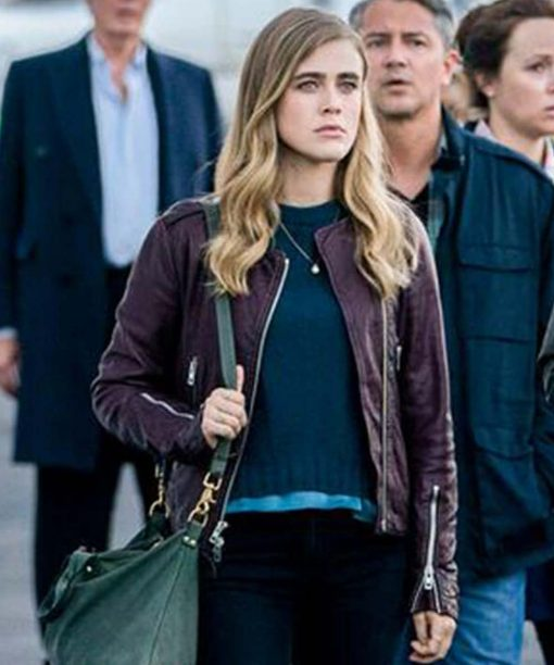 Melissa Roxburgh Manifest Leather Jacket