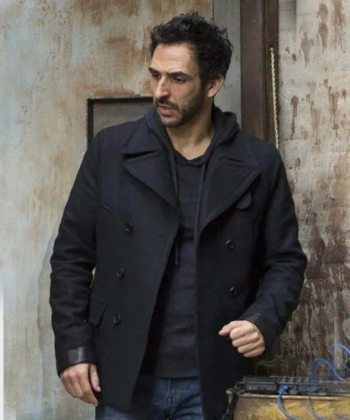 Amir Arison The Blacklist Black Wool Coat