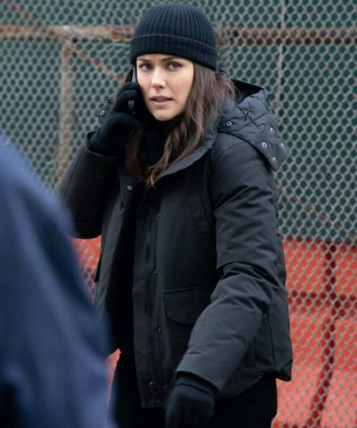 Megan Boone The Blacklist Black Hooded Jacket