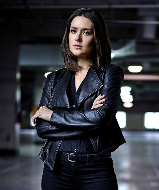 Megan Boone The Blacklist Black Leather Jacket