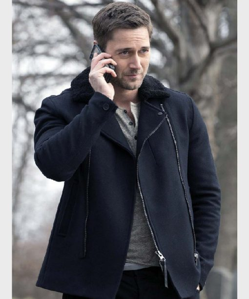 The Blacklist Tom Keen Shearling Collar Jacket