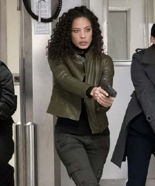 The Blacklist S03 Tawny Cypress Leather Jacket