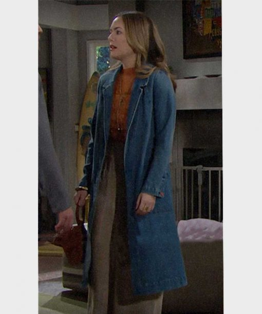 The Bold and the Beautiful Hope Logan Denim Coat