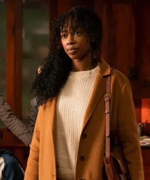 The Equalizer (2021) Fedna Jacquet Camel Brown Trench Coat