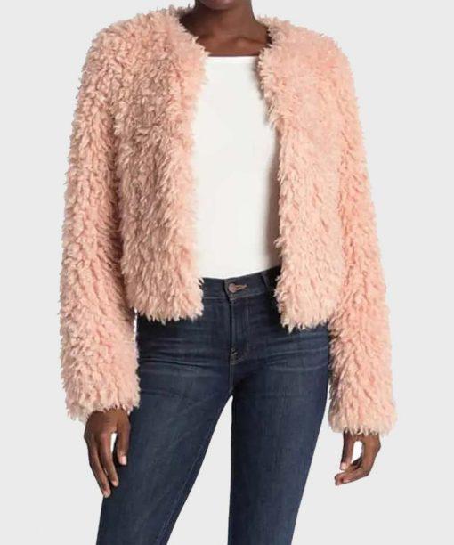 The Equalizer (2021) Laya DeLeon Hayes Pink Fur Jacket