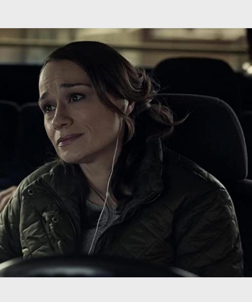 The Equalizer (2021) Lianne Marie Dobbs Green Quilted Jacket