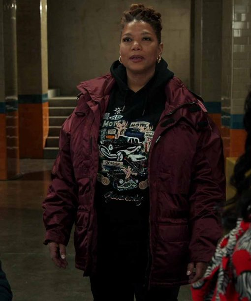 Robyn McCall The Equalizer Burgundy Jacket