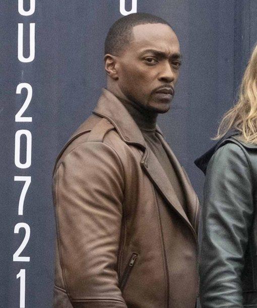 TFATWS Sam Wilson Brown Leather Jacket