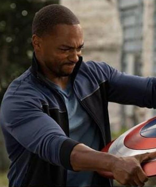 The Falcon and the Winter Soldier Anthony Mackie Black and Blue Jacket