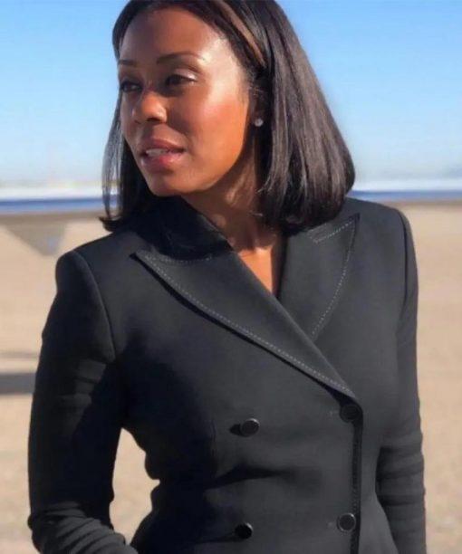 Karen Pittman Yellowstone S04 Black Coat