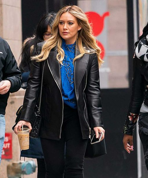 Hilary Duff Younger Black Leather Jacket
