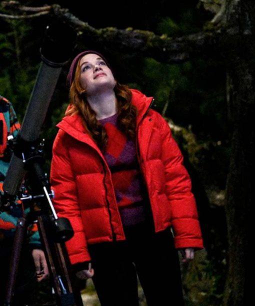 Jane Levy Zoey's Extraordinary Playlist Orange Puffer Jacket