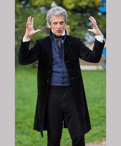 Peter Capaldi Doctor Who Black Velvet Coat