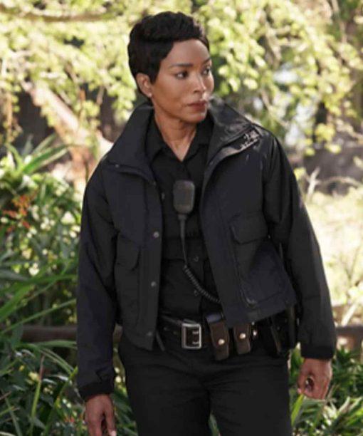 Athena Grant 9-1-1 Black Cotton Jacket