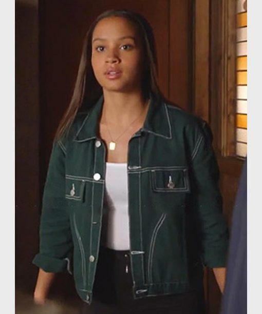 Corinne Massiah 9-1-1 Green Jacket