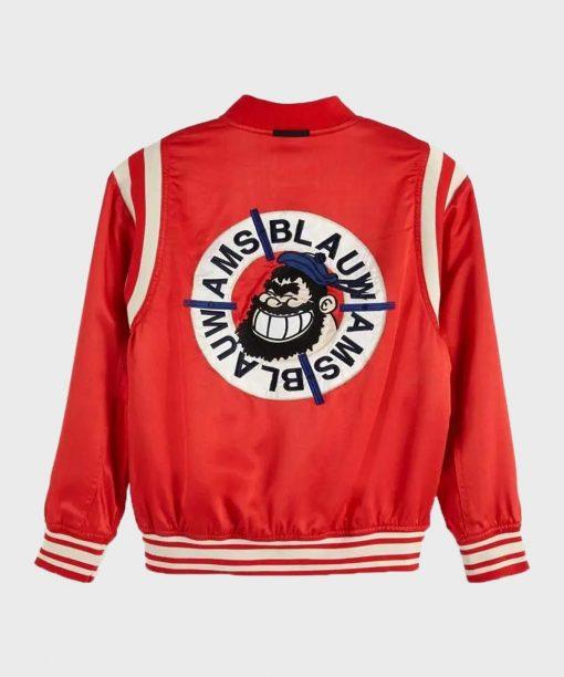9-1-1 S04 Henrietta Wilson Red Bomber Jacket