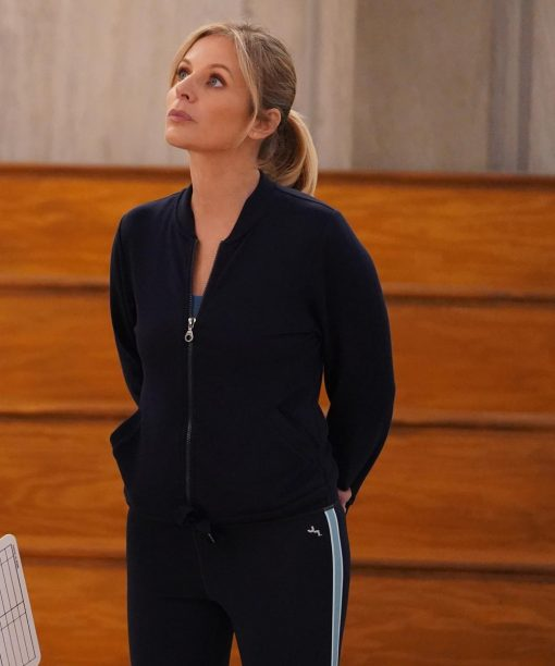 Jessalyn Gilsig Big Shot Black Bomber Jacket