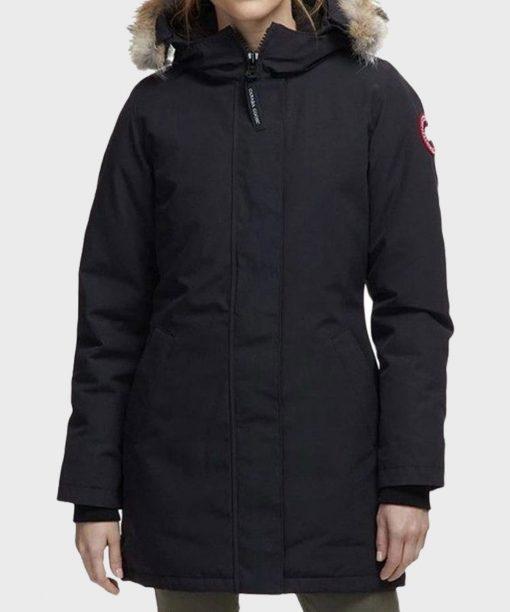 Chicago Fire S09 Adriyan Rae Black Parka Coat