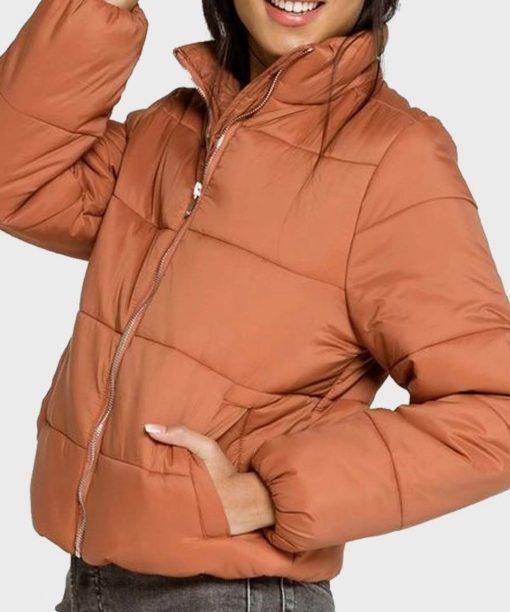Chicago Fire S09 Adriyan Rae Orange Puffer Jacket