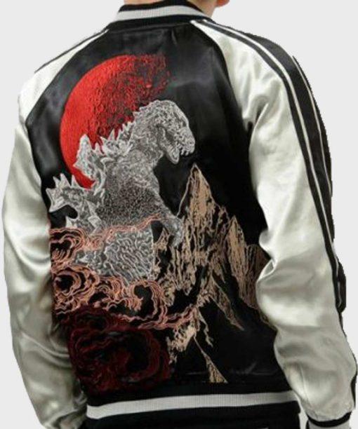 Godzilla Black Bomber Jacket