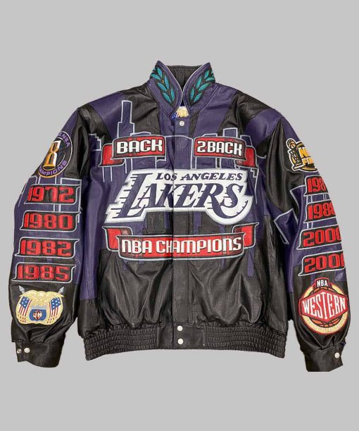 Los Angeles Lakers 2001 Leather Jacket