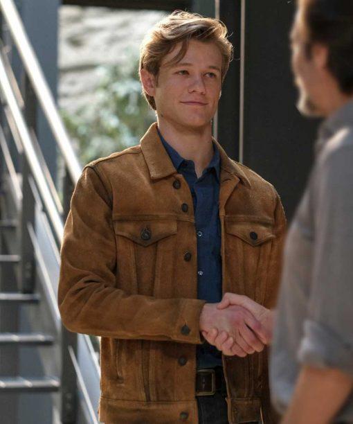 Lucas Till MacGyver S05 Brown Jacket
