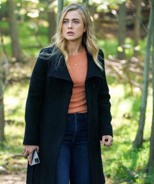 Melissa Roxburgh Manifest S03 Black Coat