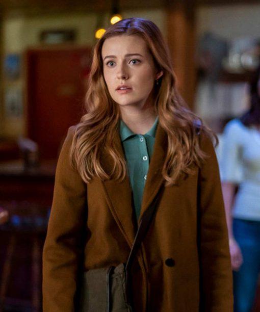 Kennedy McMann Nancy Drew Brown Mid-Length Coat