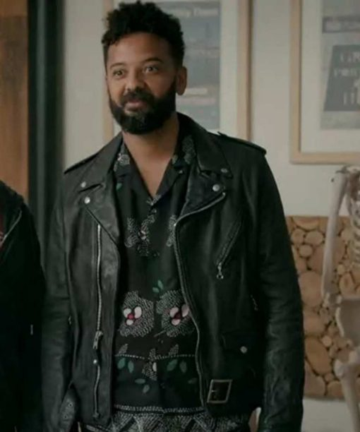 Shrill Ian Owens Black Leather Jacket