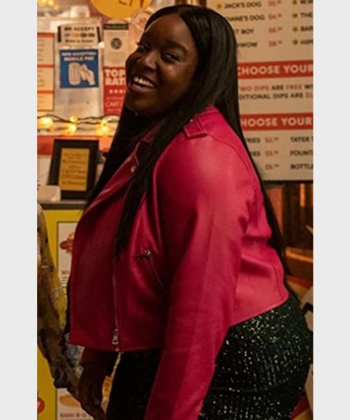 Lolly Adefope Shrill S03 Pink Leather Jacket