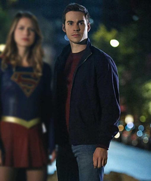 Chris Wood Supergirl Black Jacket