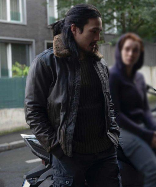 TFATWS Desmond Chiam Leather Bomber Jacket