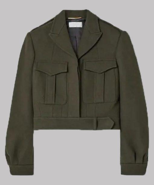 The Flight Attendant Zosia Mamet Green Jacket