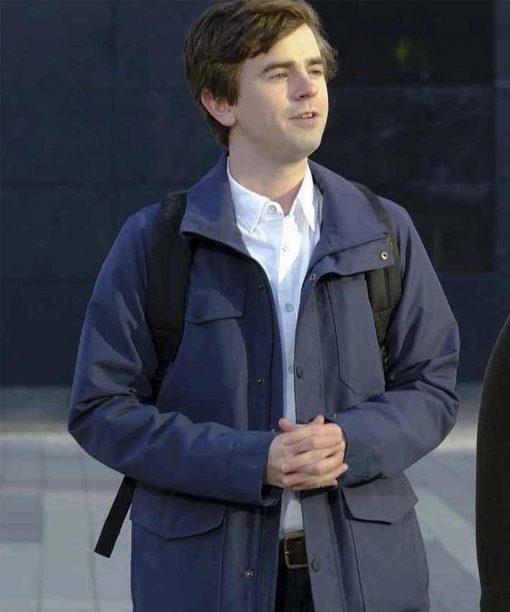 Freddie Highmore The Good Doctor S04 Grey Jacket