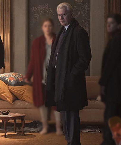 The Woman in the Window Gary Oldman Black Coat