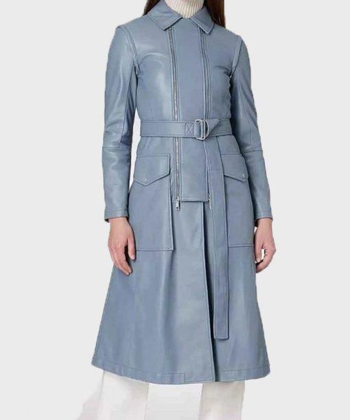 Fate The Winx Saga Eve Best Blue Leather Coat