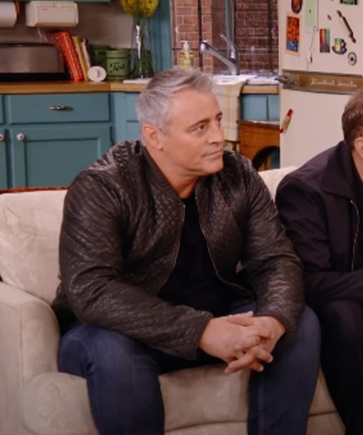 Matt LeBlanc Friends The Reunion Brown Quilted Leather Jacket