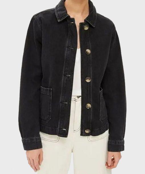 Good Girls Mae Whitman Black Denim Jacket