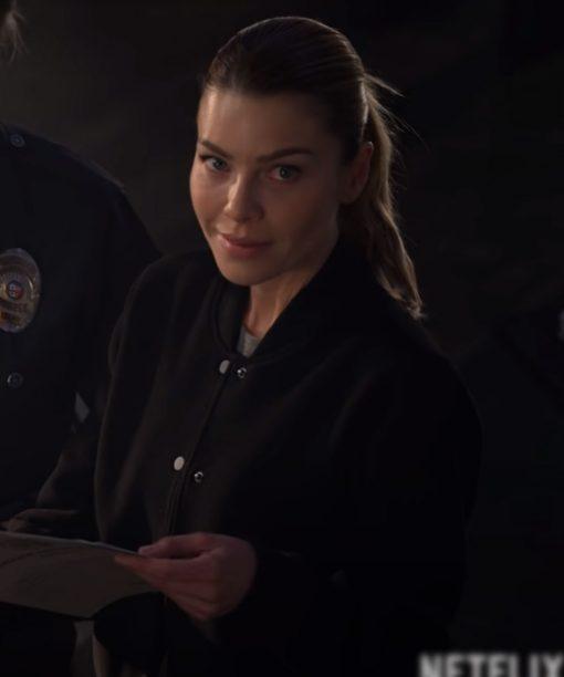 Lauren German Lucifer Black Bomber Jacket