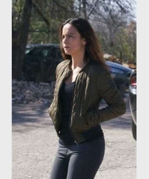 Alice Braga Queen of the South Quilted Bomber Jacket
