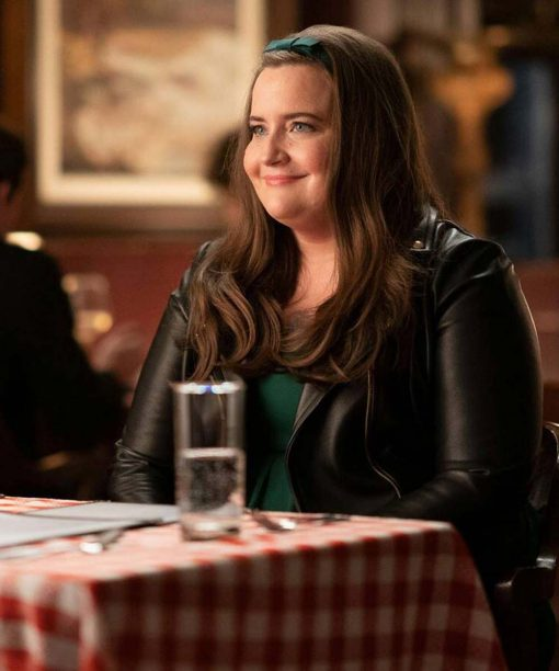 Aidy Bryant Shrill S03 Leather Jacket