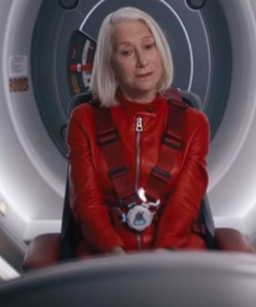 Helen Mirren Solos Red Leather Jacket