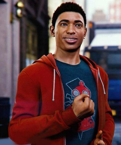 Spider-Man Miles Morales PS4 Red Hoodie