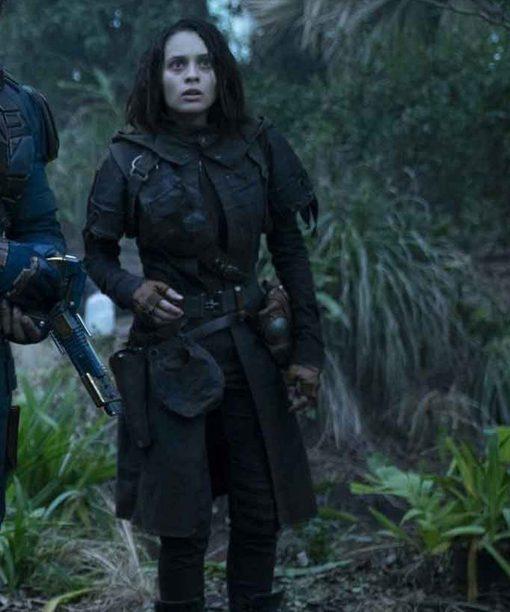 Daniela Melchior The Suicide Squad Leather Coat